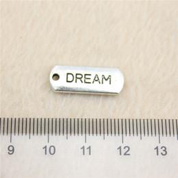 25Pcs 21*8mm antique Silver Tonedream tag Charms Zinc Alloy DIY Handmade Jewelry Pendants Wholesale