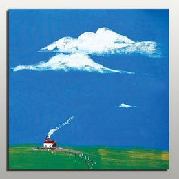 Wholesale Cheap price simple wall abstract painting modern landscape canvas art from China Home Decoration for sale online