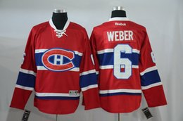 Wholesale 2016 news Men s NHL ice Hockey jersey Montréal Canadiens Weber Red White High quality Traditional embroidery technics
