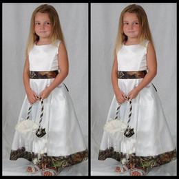 Realtree Camouflage Flower Girls Dresses 2020 Wedding Party Camo Flower Girl Dress Custom Made Communion Toddler Flower Girl Dresses