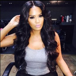 Full lace wigs glueless lace front wigs 7A Brazilian remy hair natural wave lace front wigs natural black available
