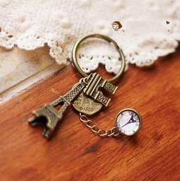 Wholesale Original handmade key buckle Jewelry Department of Japanese Department of the Department of retro double line tower key butt