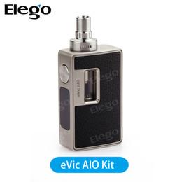 Descuento venta al por mayor joyetech El kit original del arrancador de Joyetech eVic AIO con la capacidad 3.5ml se puede repacar con la etiqueta engomada de Evic AIO Venta al por mayor de Elego Envío libre contra TFV8