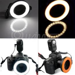 2017 anillo de luz led de la cámara Venta al por mayor 5W-48 LED Macro Ring Video Studio Panel de luz de la lámpara de la cámara de Canon DSLR anillo de luz led de la cámara promoción