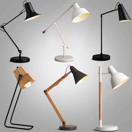 Wholesale Contemporary contracted study long arm desk lamp Nordic office reading industry warm light lamp table lamp hight quanlity Indoor Lighting