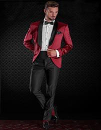 2017 Style Classique 1 Bouton Shawl Lapel Costume Pour Homme Vêtements  Groom smokings et costume Groomsman Custom Made Man Costume (veste +  pantalon)