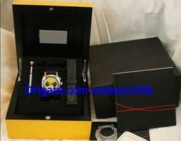 Wholesale New Black Yellow Men s Automatic Movement Watch Mens Sport Watches Leather Band Original Box File