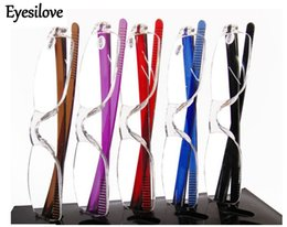 20pcs lot Unbreakable colorful transparent clear reading glasses many colors strength power from +1.00 to +4.00