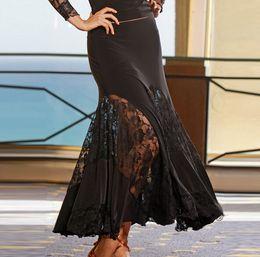 2018 New Modern Dance Skirt Tango Dance Dresses Ballroom Competition Latin Dance Dress Ballroom Dancing Skirts Practice Dancewear Skirt