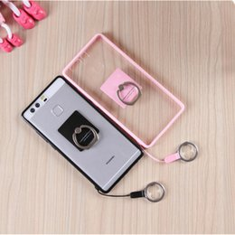 Lovely Cartoon Cell Phone Cases Kiss Hello Kitty Kickstand Acrylic Phone Covers for Huawei P9 Mate8 31