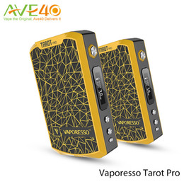 Wholesale Original Vaporesso Tarot Pro w VTC vape Mods Powered by Dual Elektronik Sigara vaporizer battery Upgraded w VTC Box Mod kits