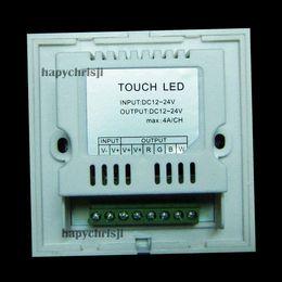 Купить Онлайн 24v диммер панель-Сенсорная панель Full Color диммер контроллер для белого RGBW RGB LED Strip 12-24В 12А RGB Controlers