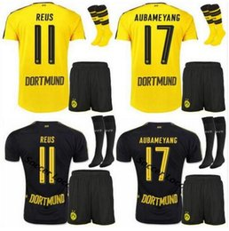 Wholesale Best selling new Borussia Dortmund kit home away Jerseys Dortmund adult Coat socks Jerseys REUS GUNDOGAN PULISC Borussia Dortmun
