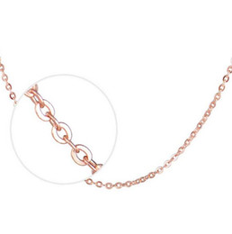 Rose Gold Plated O Link Chain Of 1.5MM 18inch Chains Fit DIY pendant Necklaces For Women Men C11
