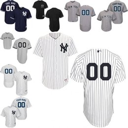 Wholesale 2016 custom New York Yankees Men s Customized Baseball Jersey Any Name Any Number Embroidery stitched Logos SIZE S XL
