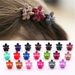 South Korea imported children hair accessories cute small scrub flowers mini hairpin girls baby clip clip card
