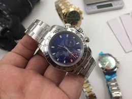 Wholesale - New 2017 luxury brand watches man 116508 blue dial steel watch automatic watch sapphire mens watch