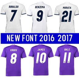 Wholesale Best quality Reals MADRIDES MEN ADULT SHIRT RONALDO BENZEMA bale new soccer home shirt Away KROOS Camisetas de Futbo