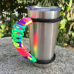 Tumbler Handle for Yeti and Rtic Rambler 20 Oz, Handmade Paracode Handles Fits Ozark Trail ,Sic Cup and More Tumblers (Handle Only)