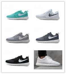 Wholesale 2016 Mens Roshe Run BR Athletic Running Shoes Fashion Womens London Olympic Mesh Light Weight Breathable Sports Shoes