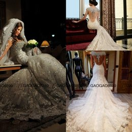 Wholesale Absolutely stunning Sparkly Crystal Church Royal Wedding Dresses Rami Salamoun Full Lace Cap Sleeve Arabic Plus Size Wedding Dress