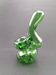 Wholesale Bubblers Glass Pipe Pipes for Smoking inchs length g pic colored green Bubbler Hi Q glass