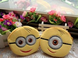 Wholesale 2015 new Kawaii Despicable ME Yellow Minions Coin Purses Wallet Pouch Case BAG Bags Beauty Handbag for children gifts