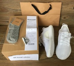 Wholesale 2016 TOP best boost Beluga White Kanye West milan Running Sports Shoes mens womens Sneakers Keychain Socks Bag Receipt Boxes