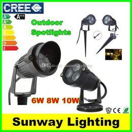 Wholesale Outdoor LED Garden Spot lights W W W LED Floodlights Wall Yard Path Pond LED Lawn Light Landscape Lighting Lamps V V