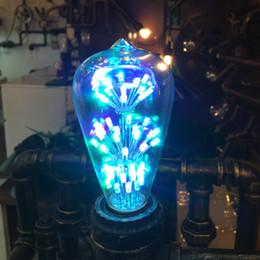 RGB Edison LED Bulb 2W Led Filament Bulb decorative LED bulb filament led bulb E27 clear glass indoor lighting lamp AC220V
