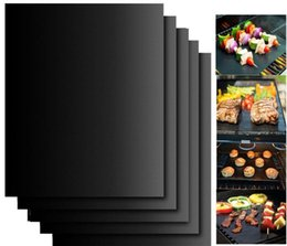 Wholesale new arrival Non stick BBQ Grill Mat Pad Sheet Barbecue Baking Meshes Reusable Bakeware Cooking Tool