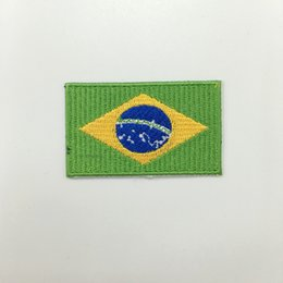 "Brazil flag patch 2.5""x1.5"" low price good quality computer embroidery free shipping customised"