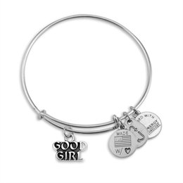 Wholesale Alex and Ani Bad Girls Good Girl Adjustable statement bracelets Silver Charms Wiring expandable pendant bangles band cuffs Christmas gift