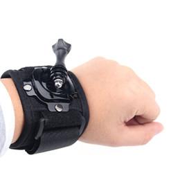 Wholesale 360 degree Rotation gopro Wrist Mount Hand Strap for GoPro Hero hero4 Gopro Wrist Band Arm Shell Strap