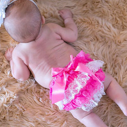 Wholesale 15 off New Baby cotton Ruffle Bloomers colorful PP Pants headband Girl Skirt Diaper Cover Culotte Pant Skirt pants hairband