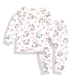 Cute cartoon animal print 2016 New fashion cotton spring unisex baby clothing sets children boys tops+pants baby clothes