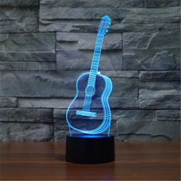 Wholesale Sax Six Strings Guitar Bedroom LED Desktop Table Lamp Christmas USB Valentines Day Birthday Gift D Touch Button Night Light D TD208