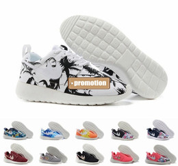 Wholesale 2016 Roshe Run Floral White Black Palm Tree Sky Blue Sunset Mens Womens Running Shoes Cheap London Olympic Roshes Run Athletics Shoes