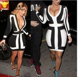 Wholesale long sleeve v neck casual dress clothing ladies bodycon plus size cheap party dresses for women clubwear xxxl xxl black stripe