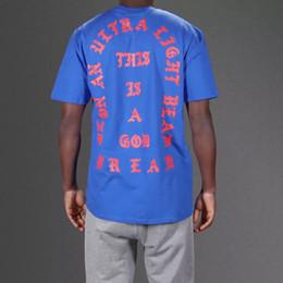 SEASON 3 Blue T-Shirt Mens Hip Hop Tee Short Sleeve O-neck T Shirt KANYE WEST I Feel Like Pablo Streetwear Clothes M-3XL