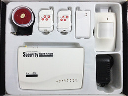 Wholesale 10pcs Wireless GSM Alarm System Dual Antenna Alarm Systems Security Home Wireless Signal MHz