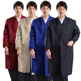 Wholesale Navy blue khaki dark red Labor insurance blue gown overalls Advertising promotion porter dusters warehouse gown