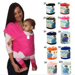 Wholesale Solid Color Baby Carrier Wrap Canguru Baby Sling Kangaroo For Babies Best Selling Elastic Cotton Newborn Two Shoulders Backpacks