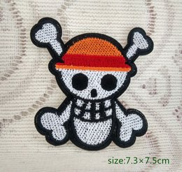 One Piece Jolly Roger skull Iron-On Patch SKELETON bone ROCK PUNK EMBROIDERED Applique Biker Jacket 10pc
