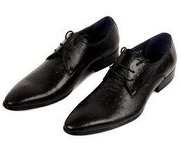 Wholesale Top quality black coffee pointed toe oxfords shoes mens dress shoes genuine leather wedding shoes mens business shoes