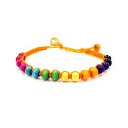 10 Colors Handmade Friendship Bracelet Hippy Wooden Beads Friendship Bracelet Rope String Friendship Bracelets Patterns