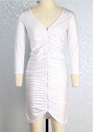 Hot sale Fat women dresses Plus lady pannelled V- neck chiffon dresses lantern sleeve dresses