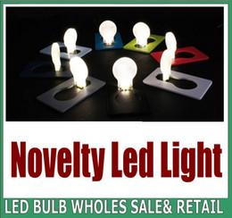 2000X Novelty Portable LED Card Pocket Light bulb Lamp Wallet Size Emergency ABS Small THIN Portable LED Card Light