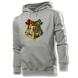 Wholesale- Hogwarts School Printed Hoodie Men's Boy's Graphic Sweatshirt Tops White Yellow Grey S M L XL XXL XXXL