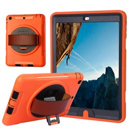 Wholesale ipad air case For Ipad Air cover PC TPU Dual Protection Shockproof Dustproof UNBreak Three proofing stents Hand belt stand High quality